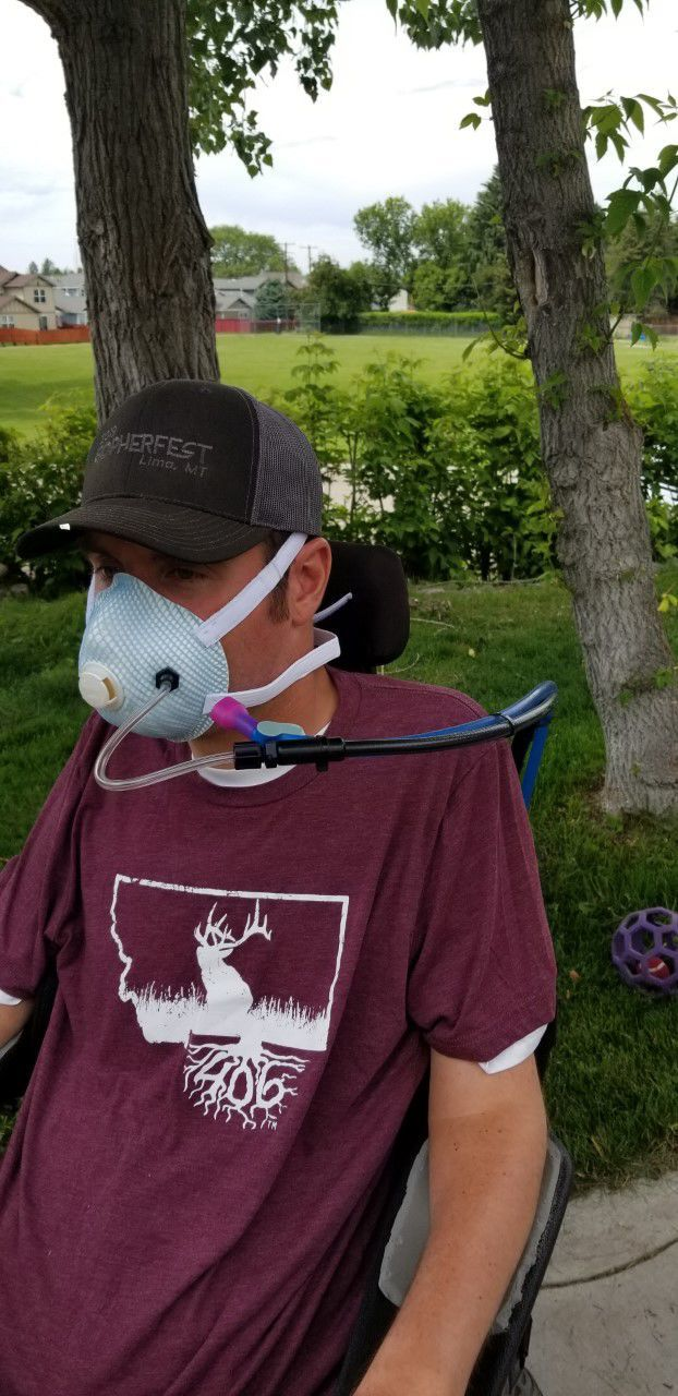 Missoula man with disability adapts N95 masks to work with wheelchair | Coronavirus | bozemandailychronicle.com