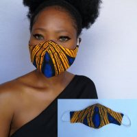 Lisa Aigbe at Etsy Ankara Masks and Accessories